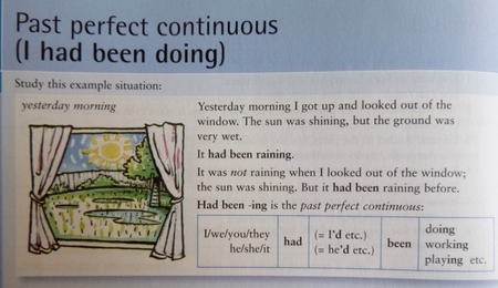 English Grammar in Use CAMBRIDGE Past Perfect Continuous.JPG